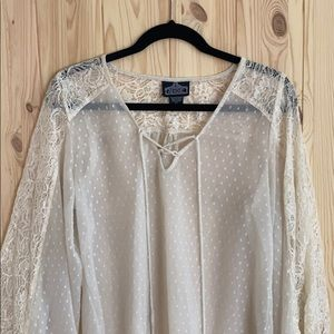 Angie size Large sheer off white too